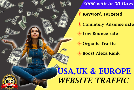 I will drive real USA, UK targeted web traffic, 24h activation, FiverrBox