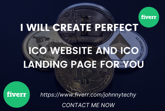 I will create ico website, ico landing page, smart contract, ico white paper, FiverrBox
