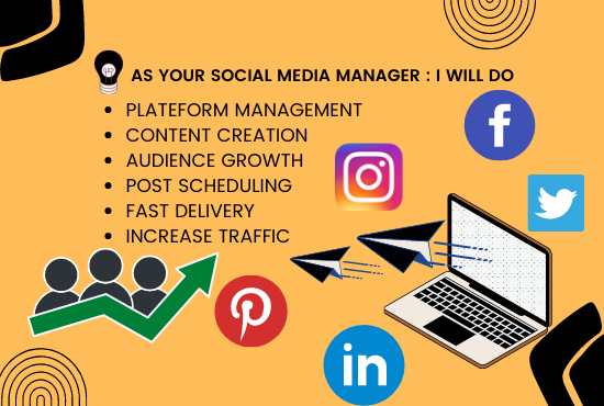 I will be your social media marketing manager and content creator, FiverrBox