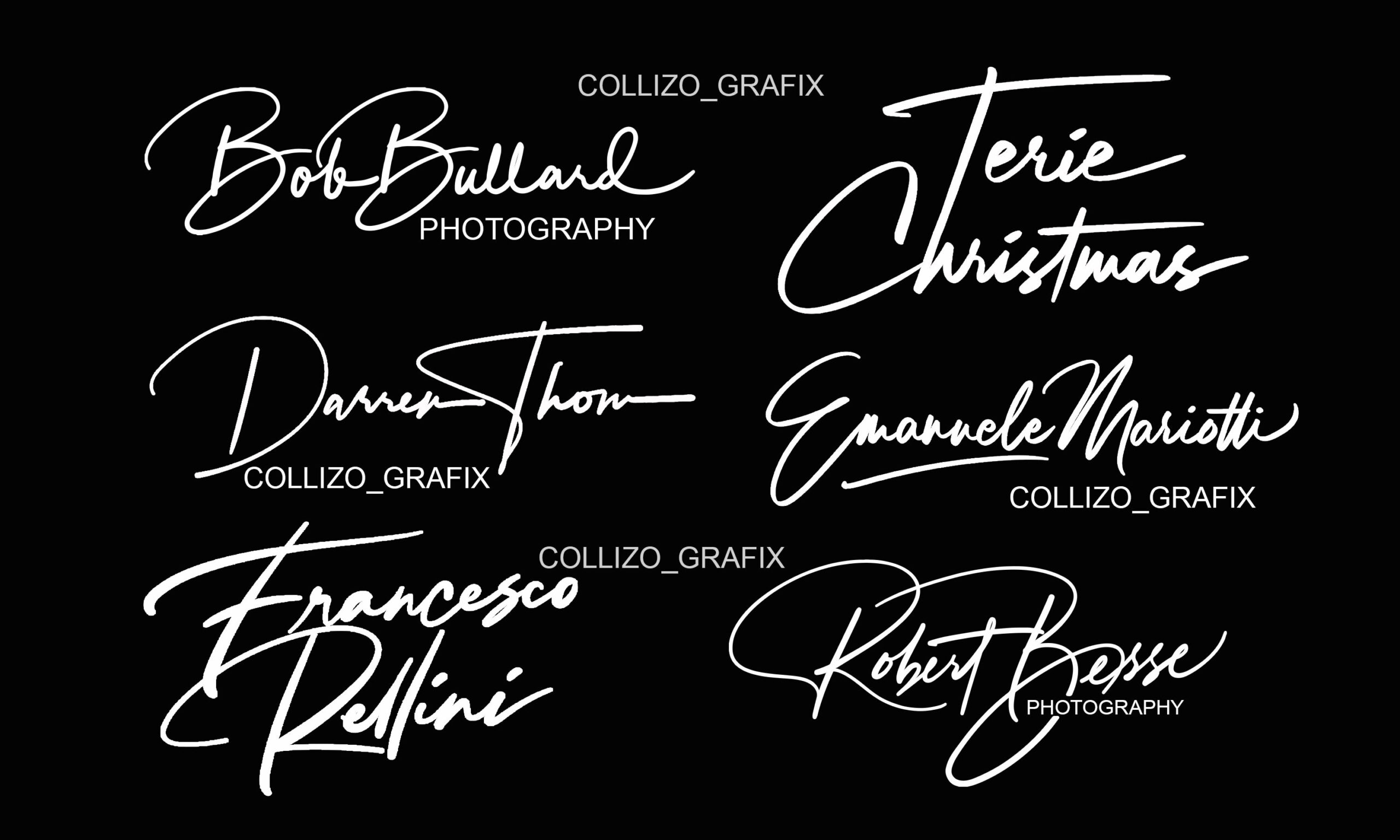 I will do professional elegant typography signature logo for your business, FiverrBox
